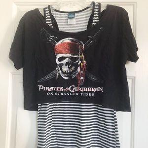 Pirates of the Caribbean Crop/Tank Set
